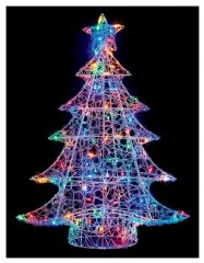 PREMIER LV191185M  1M Soft Acrylic Xmas Tree 120 Multi Led